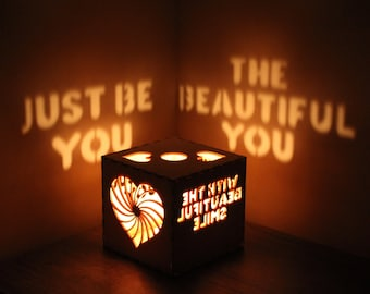 Romantic Personalized Gift for Her or Him Anniversary Gift for Girlfriend Bithday Wood Box Gift Custom Message Romantic Lantern