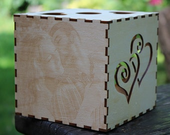 Anniversary Gift for Girlfriend or Boyfriend Birthday Wooden Gift for Her or Him Personalized Gift Photo Gifts Photo on Wood