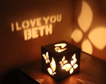 Housewarming Gift Gift for Girlfriend Girlfriend Birthday Girlfriend Personalized Love Candle Holder Lantern
