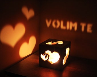 Volim Te Personalized Gift for Her Him Bedroom Lighting Love Sign Boyfriend Birthday Ideas Girlfriend Birthday Gift Gift for Her Romance