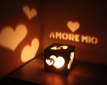 Anniversary Gifts for Girlfriend Amore Sign Amore Mio Love Sign Love Boyfriend Birthday Ideas Girlfriend Birthday Gift for Her Romance