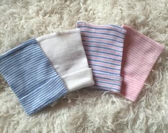 NEWBORN HAT baby girl newborn hat supplies newborn baby girl hat baby hat hospital baby hat pink striped hat pink newborn hat supplies