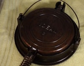Vintage Ideal Cast Iron Waffle Iron Base-nice shape