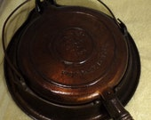 Vintage Wagner Cast Iron Waffle Maker with Iron Base