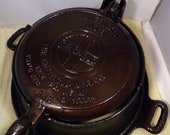 Vintage High Rise Griswold Cast Iron Waffle maker and Iron Base