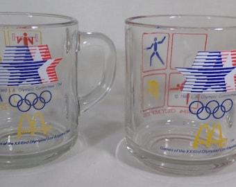 McDonalds Olympic glasses 1980's