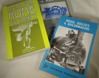 Books-compressed air-model boilers-home mechanics