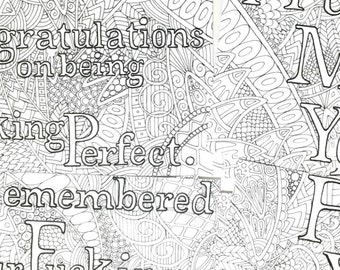 Adult Humor Coloring Pages F Bomb Coloring Book Pages