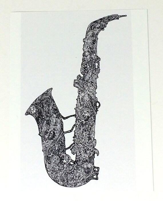 Saxophone Art Alto Saxophone Wall Art Tenor Saxophone Art | Etsy