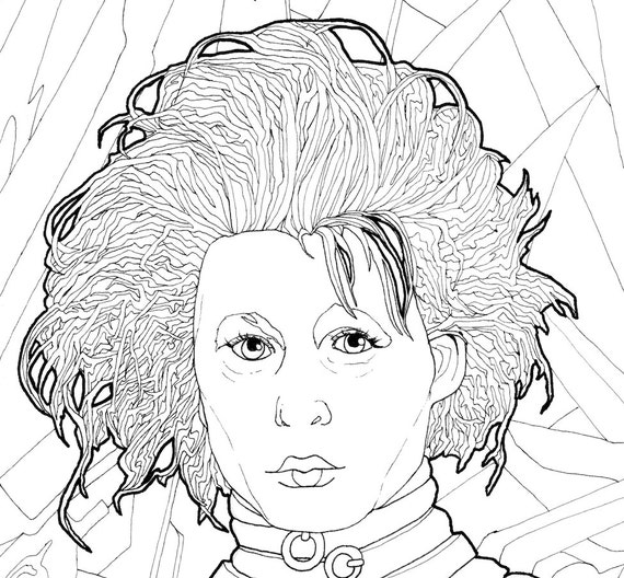 Digital Download Edward Sciscorhands Coloring Page Etsyrhetsy: Swear Word Coloring Pages Free Printable At Baymontmadison.com
