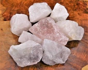 Bulk Wholesale Lot 1 LB - Rose Quartz - One Pound Rough Raw Stones Natural Gemstones Crystals