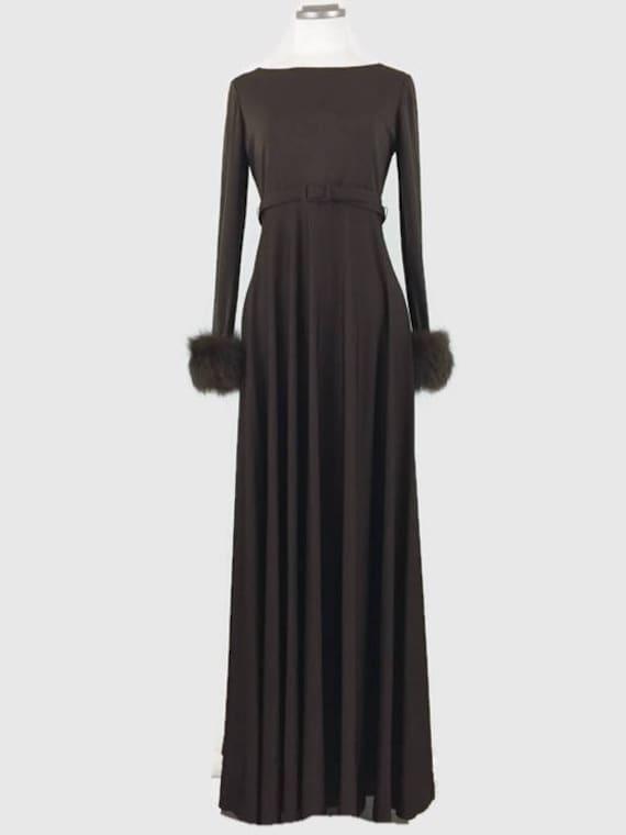 Vintage 60s Victoria Royal Ltd Gown Maxi Dress Cho