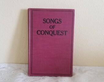 Vintage 1923-1924 Songs of Conquest Hymn Book, Joseph F. Berry Editor, Vintage Methodist Hymn Book