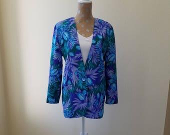 Vintage Joan Walters Jacket, Vintage Summer Jacket, Joan Walters, 1970s jacket, Dressy Jacket, Light weight Jacket