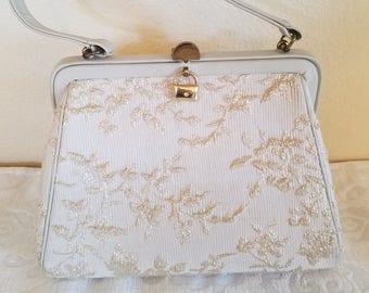 Vintage Etra Handbag, Vintage Etra Fabric Handbag, 1960s Etra Bag, 1960s Handbag, Vintage Handbags, Vintage Dressy Handbag, Evening Bag