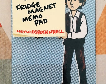 Bob Dylan Memo Pad Fridge Magnet handmade
