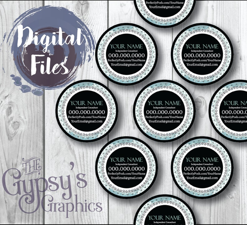 **Instant Download** Sample Labels Perfectly Posh Circular Sample Labels Direct Sales Direct Marketing Sunset Dream