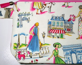 Small Project Bag Springtime in Paris Made to Order