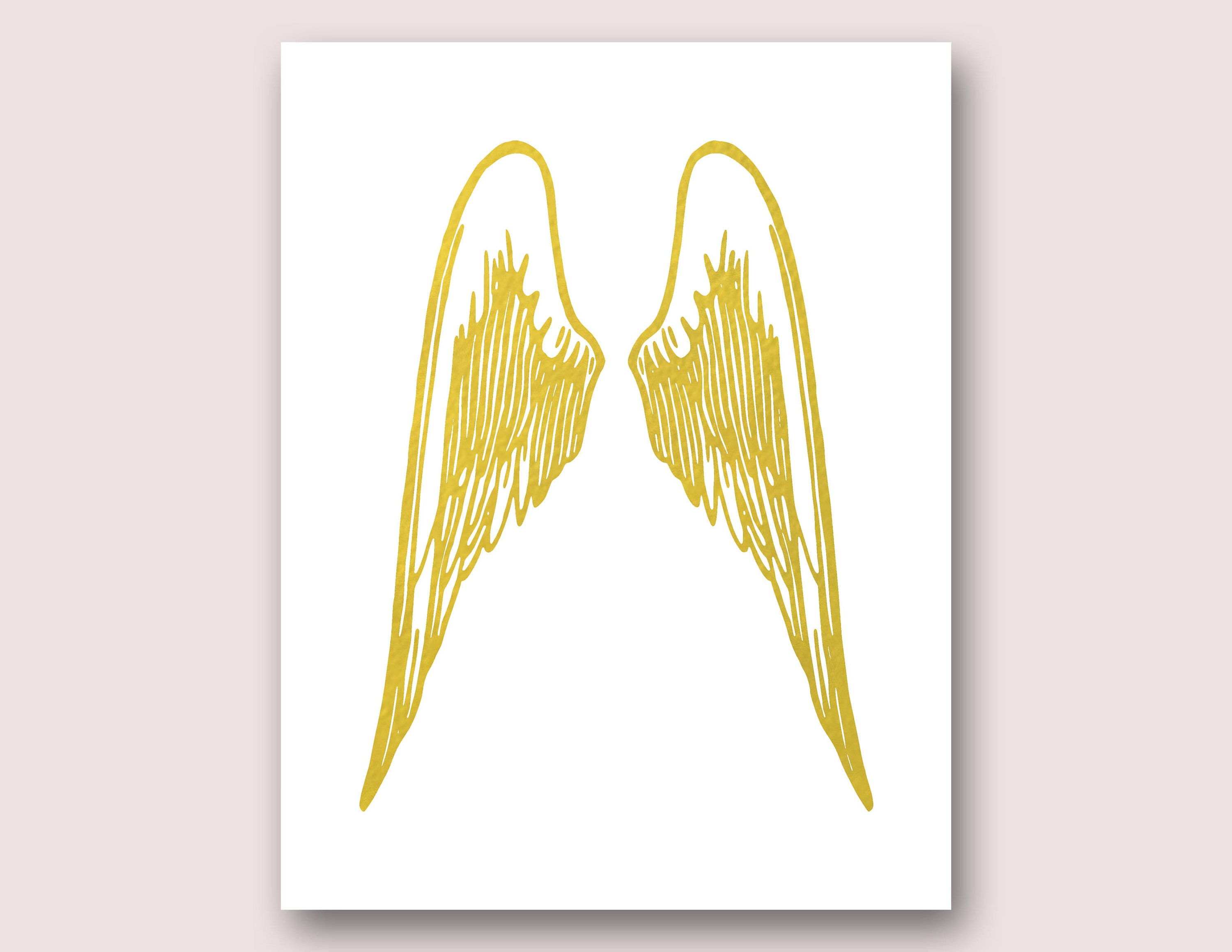 Angel Wings Wall Decor Angel Wings Print Gold Wings Print