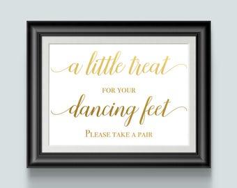 Wedding Flip Flop For Guest, Wedding Guest Shoes, Gold Foil, Please Take One, Wedding Sign Decor, Reception Shoes, Treat Favors