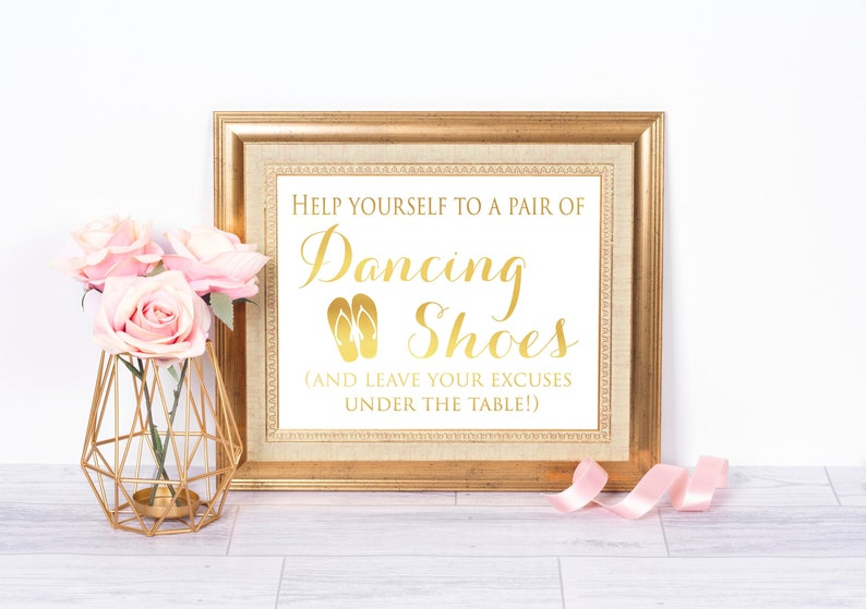 ba95dafed Flip Flop For wedding Guest Gold Foil Print Beach Wedding