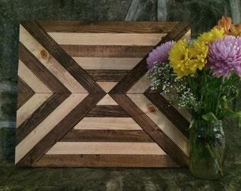 Sticker bois géométrique