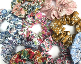 Set of 3 Liberty Print Tana Lawn Scrunchie Hair Accessories in a choice of prints