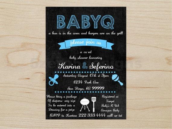 babyq invitation baby shower boy babyq boy babyq shower etsy