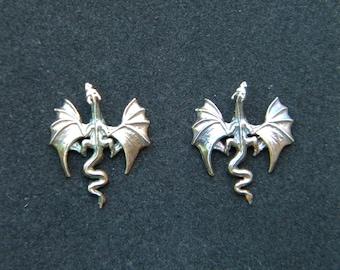 Dragon Earrings: Sterling Silver Earrings