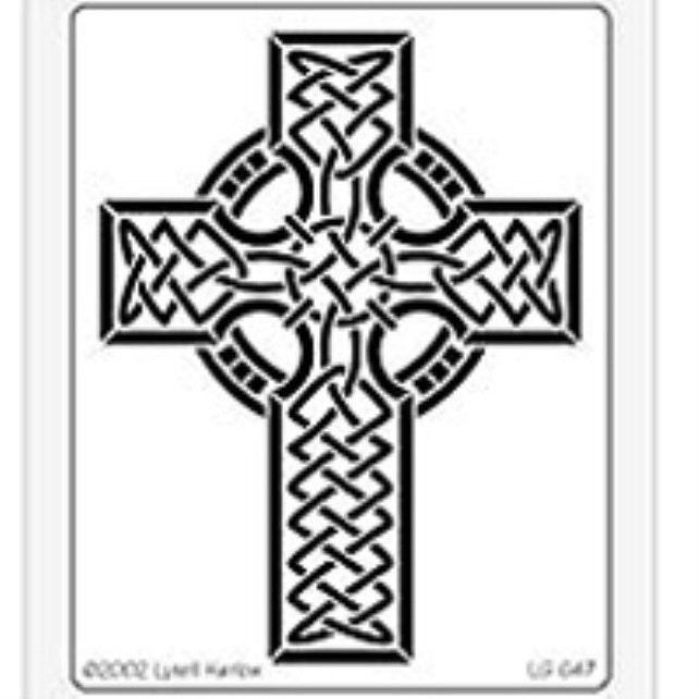 Celtic Cross Steel Embossing Stencilling Template By