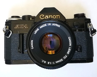 Special Wide Open Canon AE-1 Kit with New Light Seals. Ready-To-Use 1980s SLR Camera