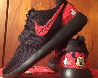b92ffe211 RED Minnie Mouse Custom Nike Roshe