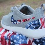 LIMITED American Flag Nike Custom Roshe