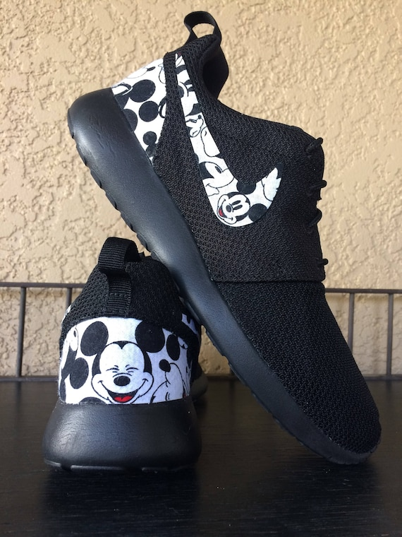 new arrivals 3c278 dda68 Mickey Mouse Custom Nike Roshe   Etsy