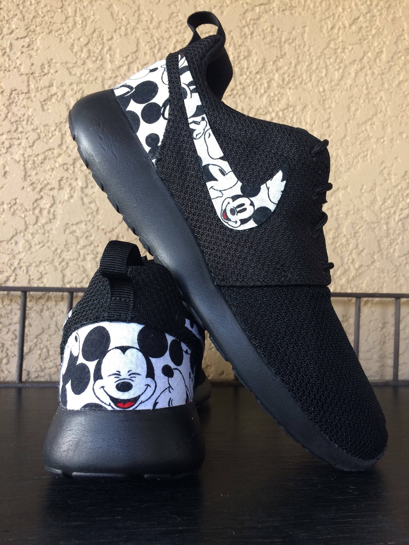 5b4eca643ee6 Mickey Mouse Custom Nike Roshe