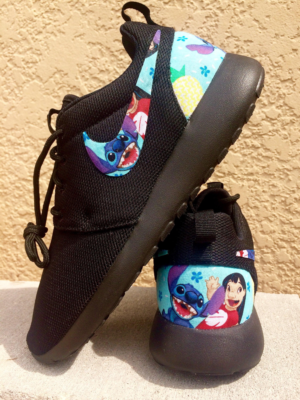 huge selection of 22143 fa09b Lilo and Stitch custom Nike Roshe   Etsy