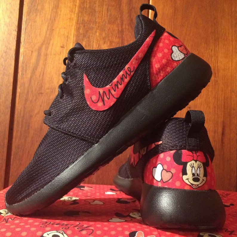 69b0fa3855b9 RED Minnie Mouse Custom Nike Roshe