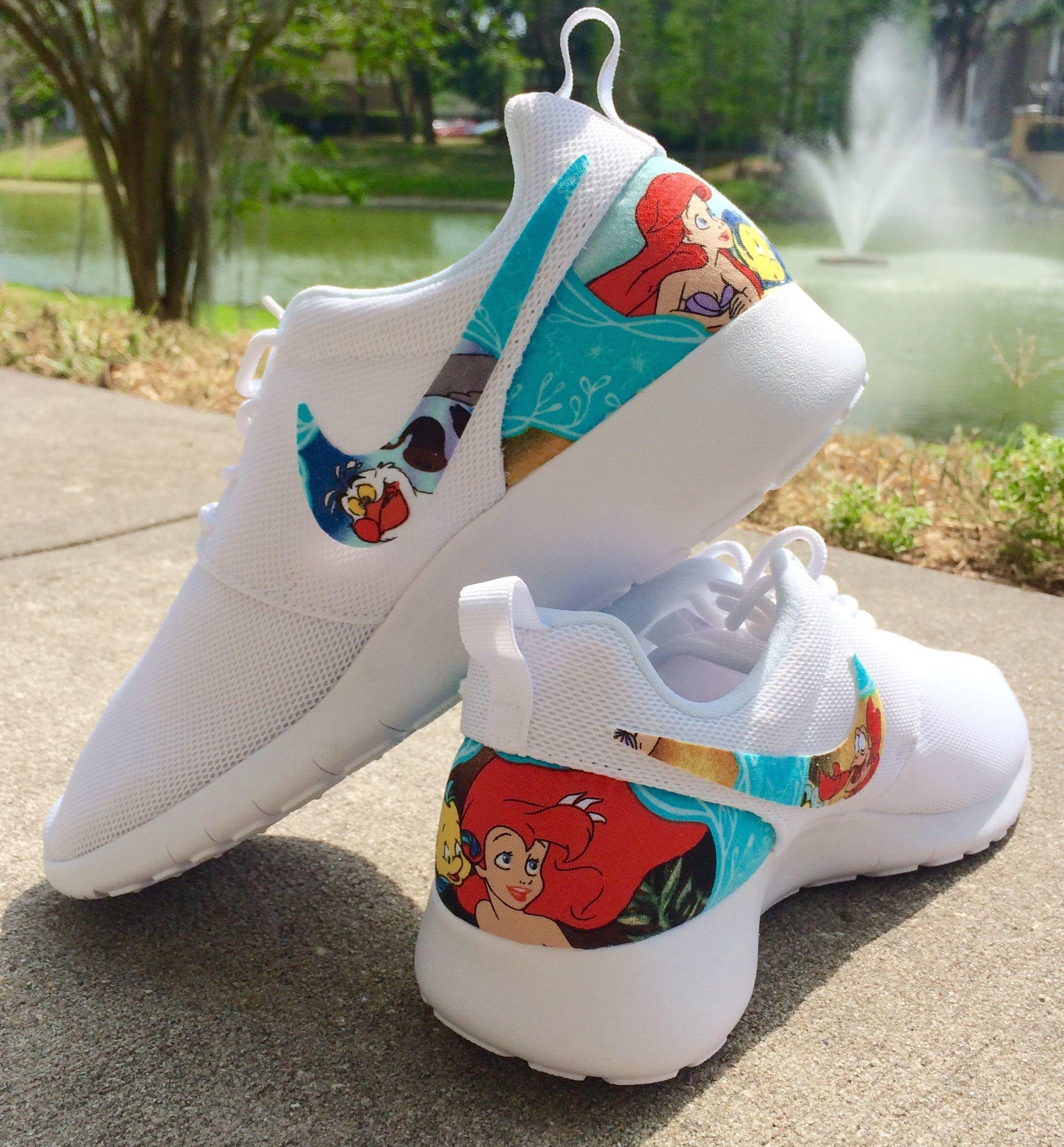 272ea4fdc1f2 The Little Mermaid Custom Nike Roshe
