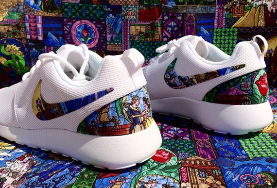 c43a41035f60 Beauty and the Beast Stained Glass custom Nike Roshe
