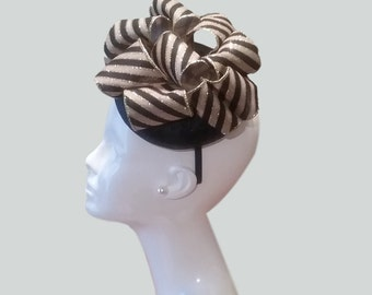 Sale!! Black and Gold Fascinator with Headband