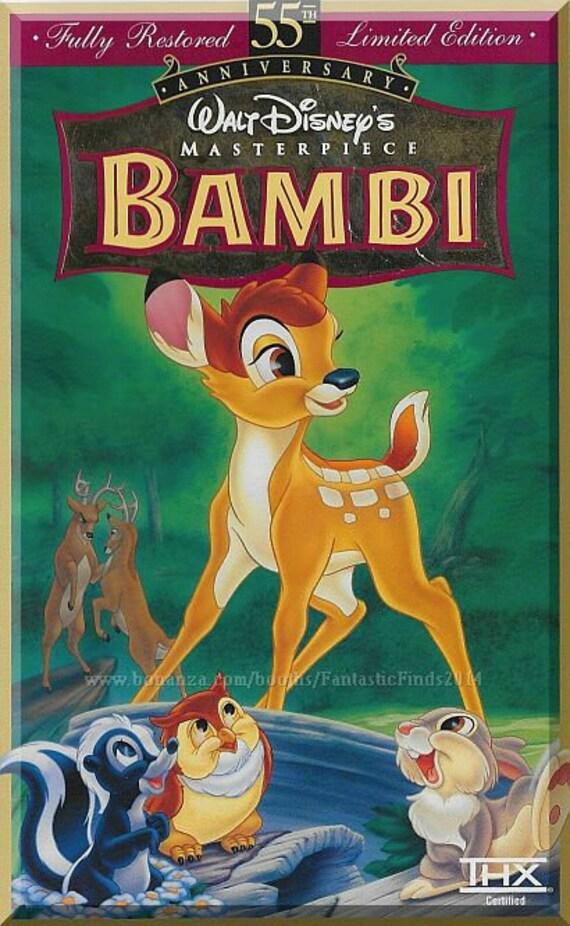 Vhs Bambi 1942 Walt Disney Thumper Flower 55th Etsy