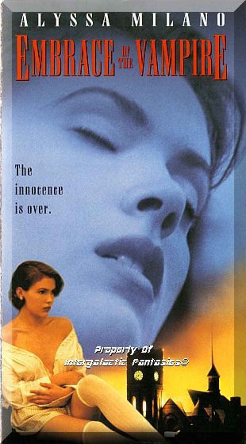 Alyssa Milano Embrace Of The Vampire vhs - embrace of the vampire: r rated version (1995) *alyssa milano*