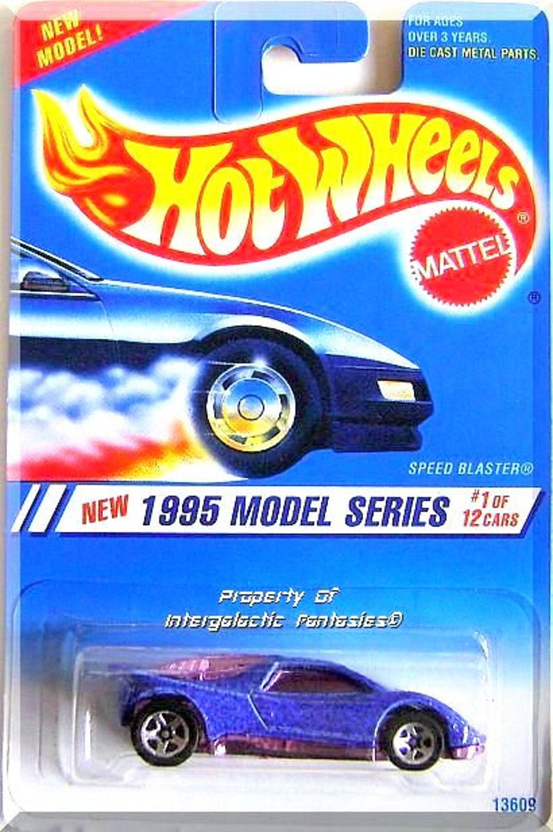 Hot Wheels - Speed Blaster: 1995 Model Series #1/12 - Collector #343 *Blue*