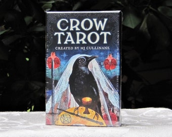 CROW Tarot DECK Cards & Guidebook by MJ Cullinane