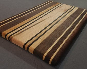 Wood Cutting Board / Mixed Wood Cutting Board / Striped Cutting Board