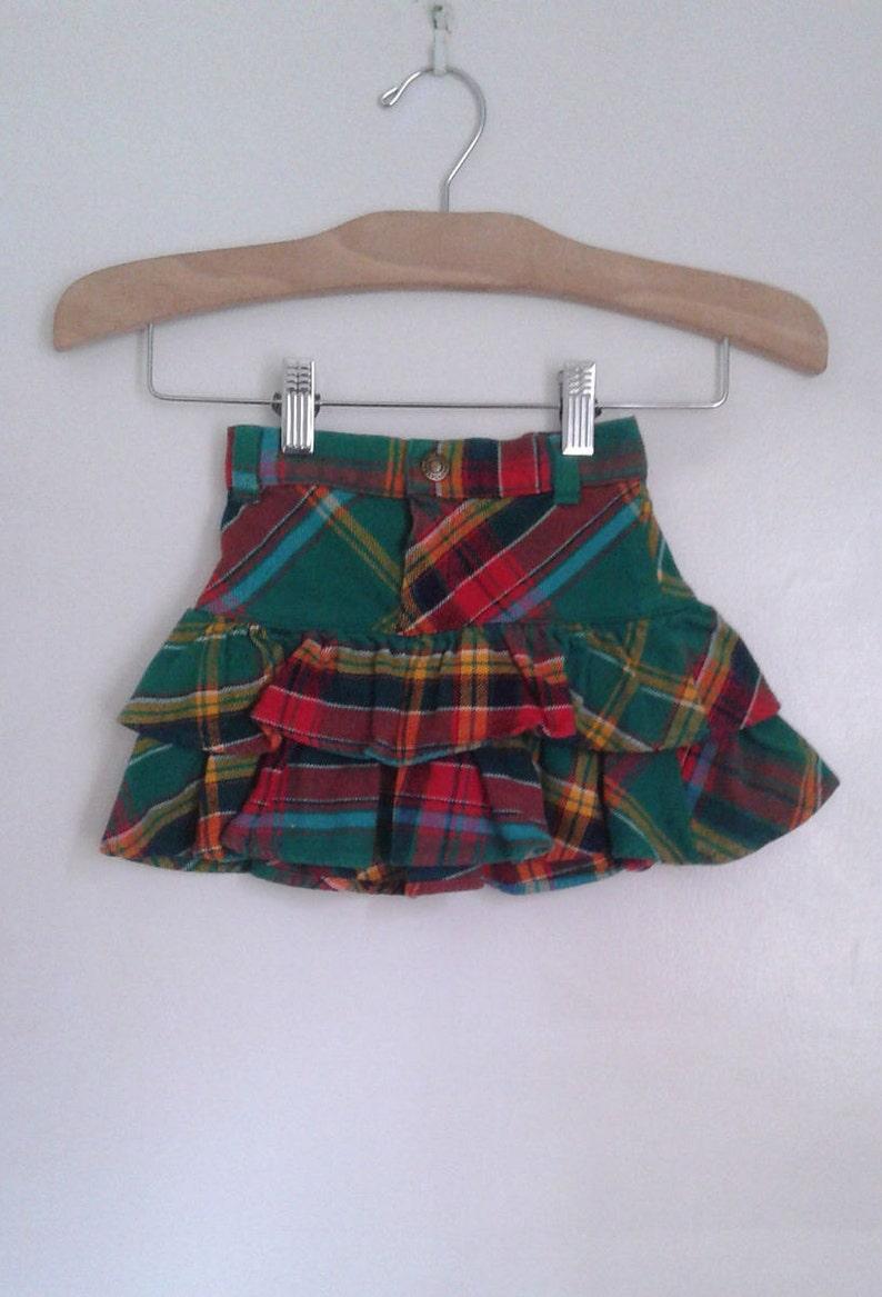 224fea4a6 Vintage Girls' Ralph Lauren Green Colorful Plaid Cotton | Etsy