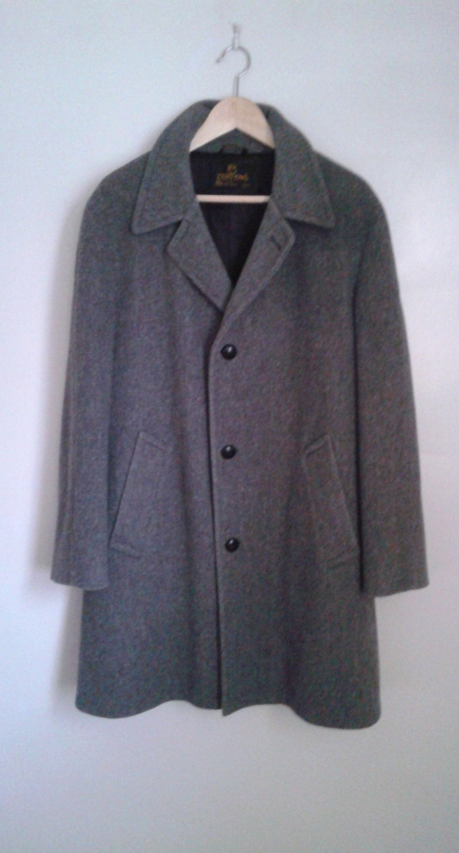 Années 1960 zéro manteau roi gris laine manteau zéro manteau Sz 42 Classic  Mod fac5fc e59ebf81f77