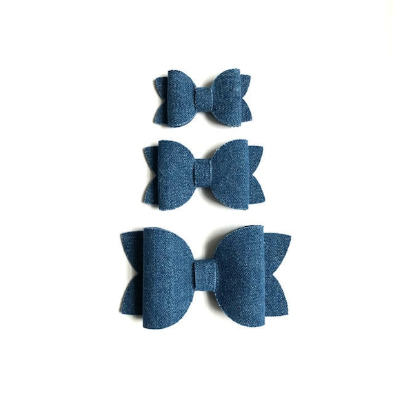 Dark Denim Bow