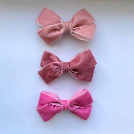 3 Pack - Luxe Velvet Large Bow
