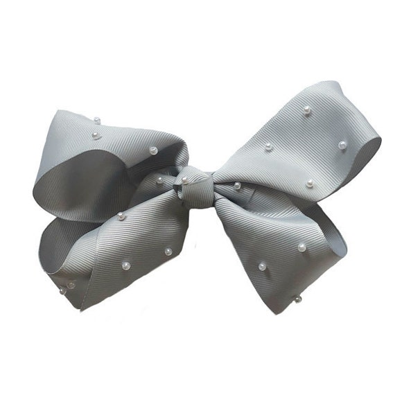 X Large Bow with Pearls